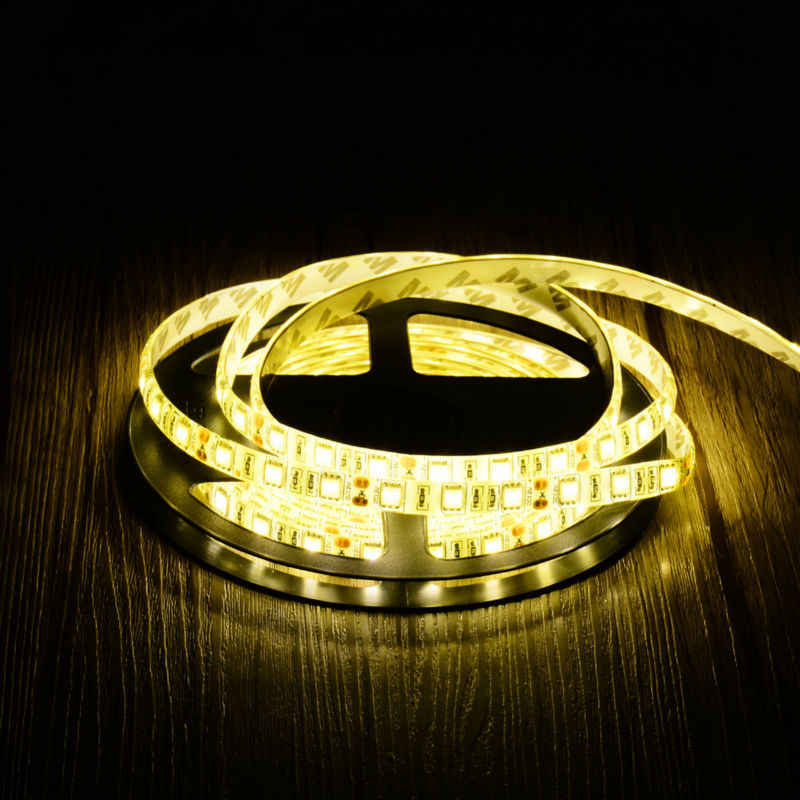 Tira de LED 5050 DC12V IP65/IP20 para decoración de fiestas navideñas, interiores, tira de cinta LED, cinta para lámpara