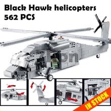 Kits Modelo de construção compatível com lego Decool blocos brinquedos Educativos passatempos helicópteros Black Hawk militar 3D para crianças