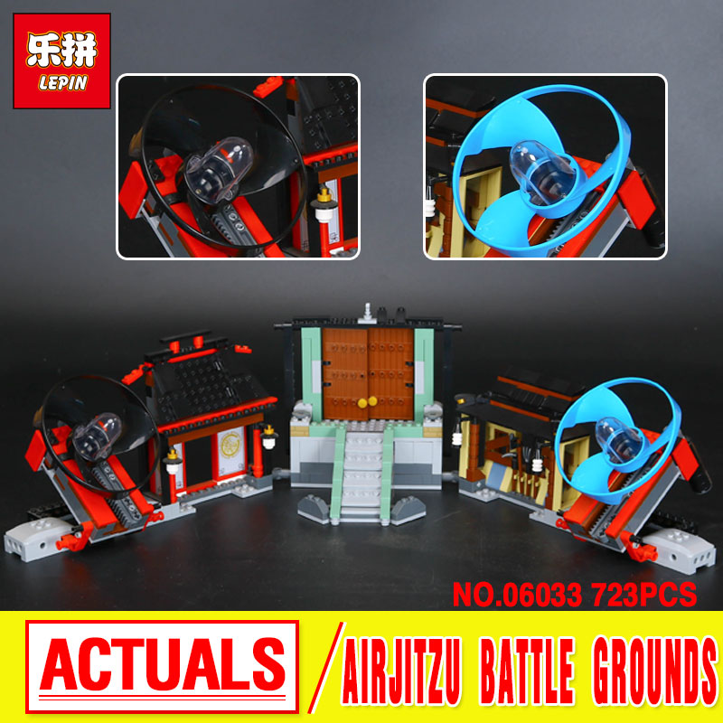 Lepin 06033 Compatible Airjitzu Battle Grounds 70590 Building Blocks Toys For Children Educational Gift Funny Lovely Toy Gift lepin 22001 pirate ship imperial warships model building block briks toys gift 1717pcs compatible legoed 10210