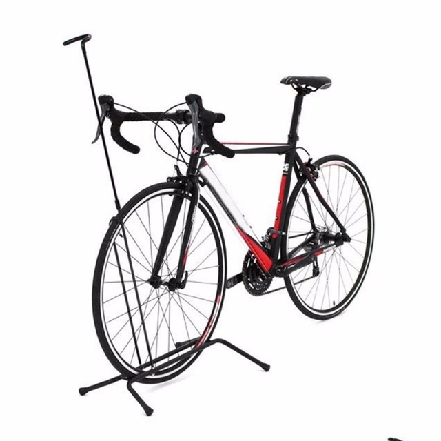 Aluminium Alloy Non-slip Road Mountain Bike Rack Bicycle Vertical Racks Cycling Parking Foldable Bicycle Stop Rack