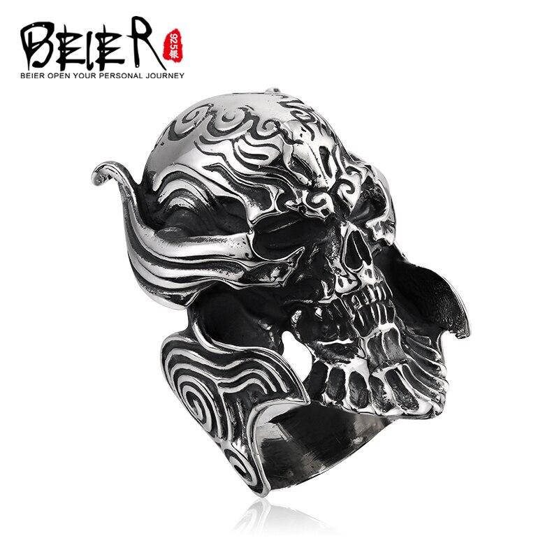Beier 925 silver sterling 2015 punk GARO main ring man jewelry D0139Beier 925 silver sterling 2015 punk GARO main ring man jewelry D0139