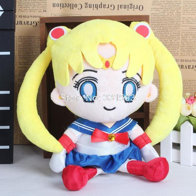 "Anime Sailor Moon Tsukino Usagi Plush Toy Cartoon Soft Stuffed Dolls 10"" 25CM"