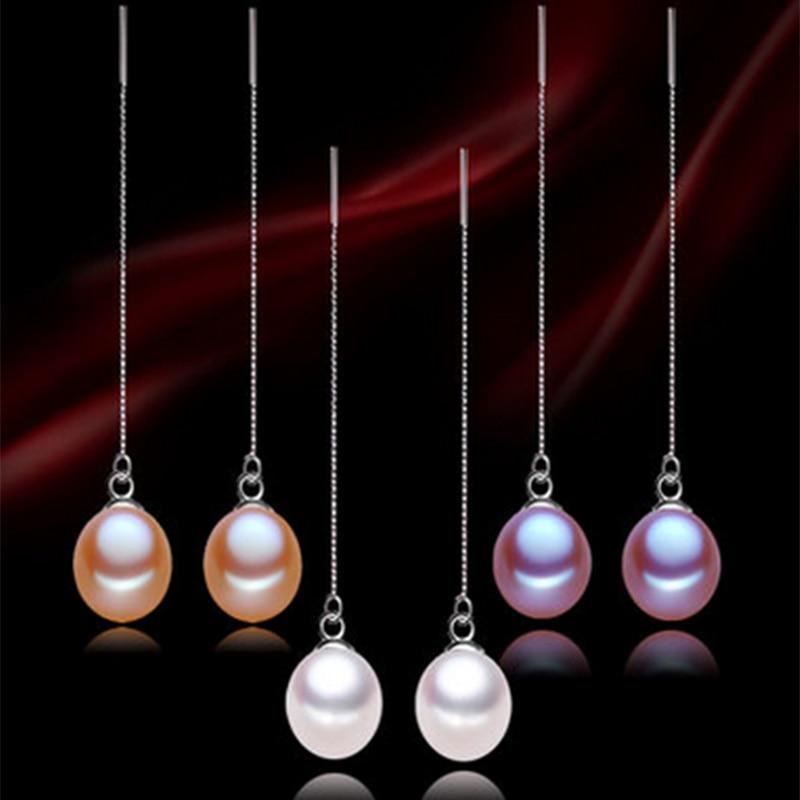 Kadınlar için 925 Ayar Gümüş küpe 8-9mm mükemmel damla - Takı - Fotoğraf 3
