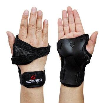 1 * זוג סקי ערימות תמיכת פרק כף היד ביד הגנת סקי תמיכת פרק כף היד סקי הגנת דקל רולר סנובורד החלקה על משמר