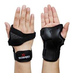1 * para narciarstwo zbroje wsparcie nadgarstka ochrona rąk wsparcie nadgarstka narciarstwo ochrona dłoni Roller snowboard Skating Guard