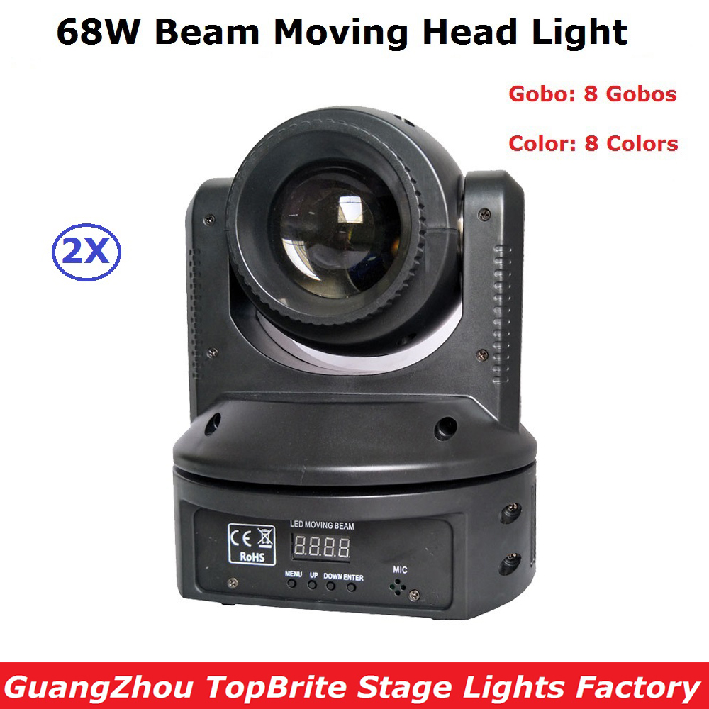 Cheap Price 2XLot 68W LED Moving Head Stage Lighting With 9/11 DMX Channel Hi-Quality 68W Led Beam Moving Light New Design flame out solenoid 3930233 12v with cheap price