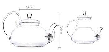 1 PC 250 ML, 600 ML, 750 ML 1200 ML Di Trasporto Del Fiore Di Vetro Di Caffè Pot Del Tè Di Fioritura Cinese Teiere Di Vetro Resistente Al Calore Di Tè Di Vetro Vasi JN 1011