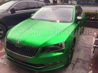 High Quality Green Matte Chrome Vinyl Wrap Film With Bubble Free For Car Wrapping Size 1