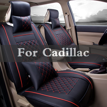 Luxury Car Seat Cover Universal Pu Leather Auto Seat Pad For Cadillac Ats-V Bls Ct6 Ville Dts Elr Srx Sts Xlr Xts