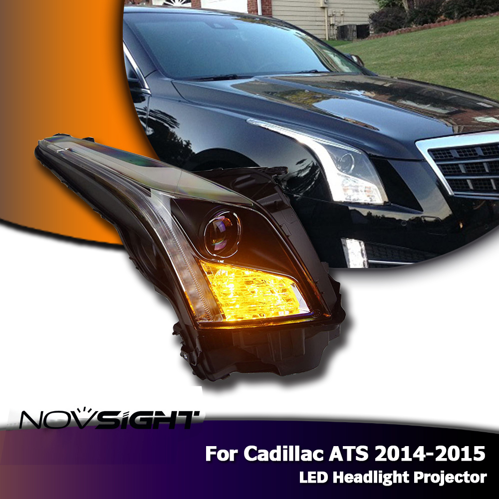 NOVSIGHT Auto Car LED Headlights Projector DRL Fog Light Lamp For Cadillac ATS 2014 15-in Car