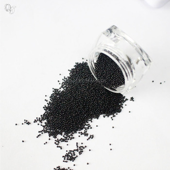 New Arrival Black Nail Art Rhinestone Beautiful Mini Caviar Beads Gel 3D Nail Art Decorations Sticker DIY Nail Art Tips J02 image