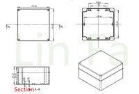пластиковые окна электронный проект 160*160*90 мм высокое качество марка коробка электроники корпуса для печатных плат распределительная коробка