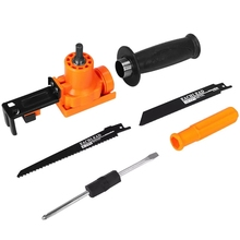 Reciprocating Saw Attachment Adapter Change Electric Drill Into For Wood Metal Cutting Ht2611