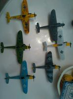 World War II German Messerschmitt BF109 Fighter Model 4D Assembled 1 48 Scenes Toys Decoration 6pcs