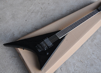 Factory Wholesale White Body Flying V Electric Guitar whit 2 Pickups,Black Pickguard,Offer Customized