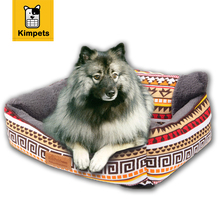 Kimpets New Dog Bed Rectangle Pet Dog Sofa Winter Puppy House Soft Fleece Kennel Cat Pet Warm Cotton Bed S-M Size Pet Products