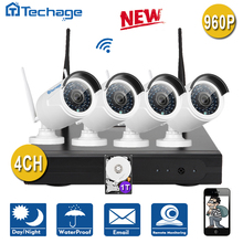 New Techage Plug and Play Wireless 4CH NVR Kit P2P 4PCS 960P HD Outdoor IR Night Vision Security IP Camera WIFI CCTV System