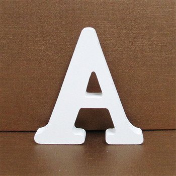 1pc 10CMX10CM White Wooden Letter English Alphabet DIY Personalised Name Design Art Craft Free Standing Heart Wedding Home Decor 5