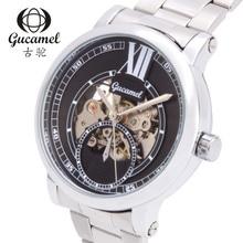 Мужская мода бизнес 30 м водонепроницаемые часы полые автоматические механические часы мужчины наручные часы циферблат диаметр 41 мм