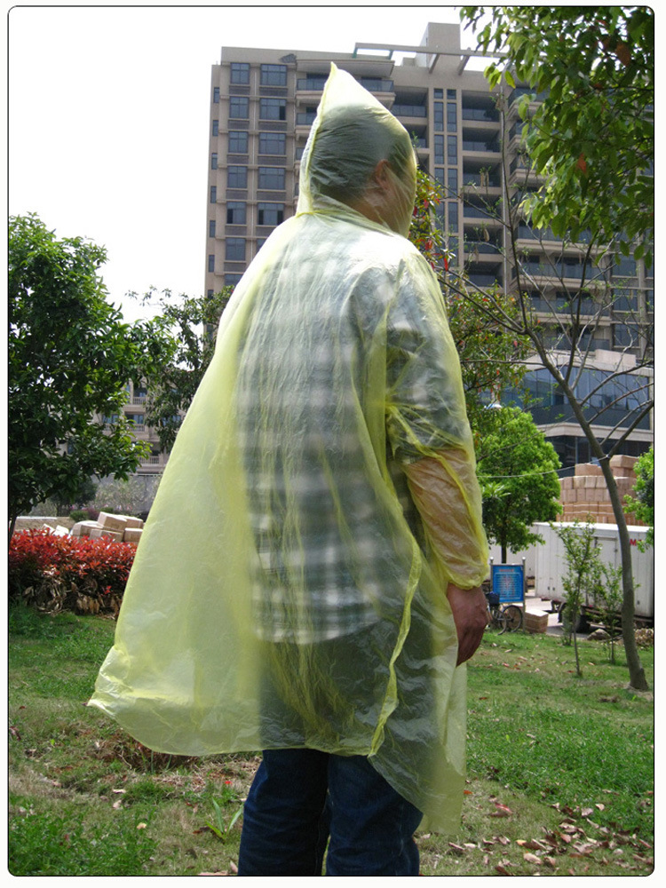 Unisex Disposable Cycling Travel Outdoor Raincoat Waterproof Hood Poncho Travel Camping Must Rain Coat Travel Kits supplies