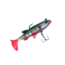 Colourful 5Pcs Soft Bait Lead Head Fish Lures Bass Fishing Tackle Incisive Hook T Tail 8.5cm 14g fishing tool