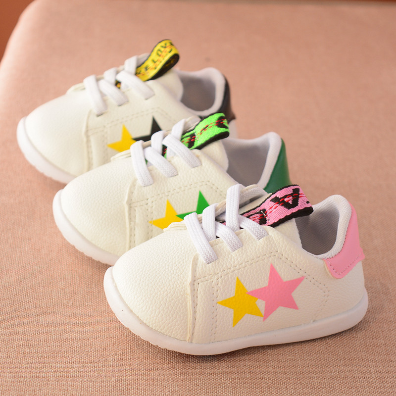 newborn fashion spring autumn kids casual flat heel loafer leather baby boy toddler shoes girl first walkers infant sneaker 2818