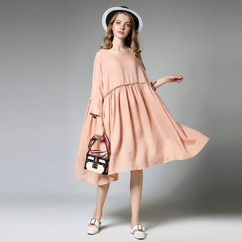 Sping Autumn Extra Large Maternity Dress Cotton Dresses Clothing for Pregnant Women Simple Style Maternity Clothes maternity clothes pregnancy dress clothes for pregnant women dresses autumn casual design cotton elegant women clothing 70r0004