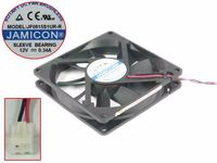 Emacro For Jamicon JF0815S1UR R DC 12V 0.34A 80x80x15mm 2 Wire Server Square Fan