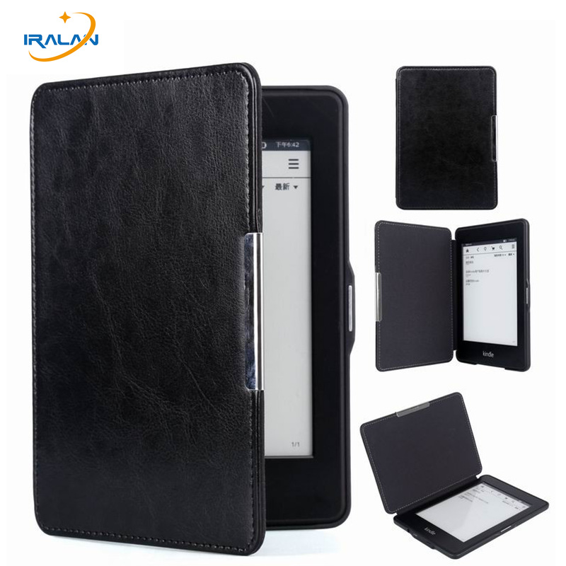 New Slim PU Leather E-Book Case for Amazon Kindle Paperwhite 1 2 3 6 Flip magnet Cover For Kindle  6th generation+stylus + film ultra slim pu leather cover case with magnet closure for kobo glo 6 ereader