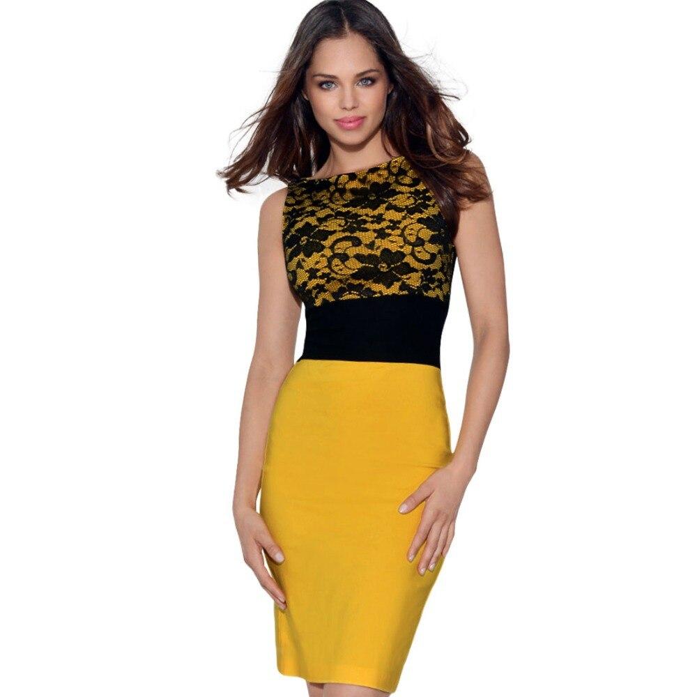 Black and Yellow Dress