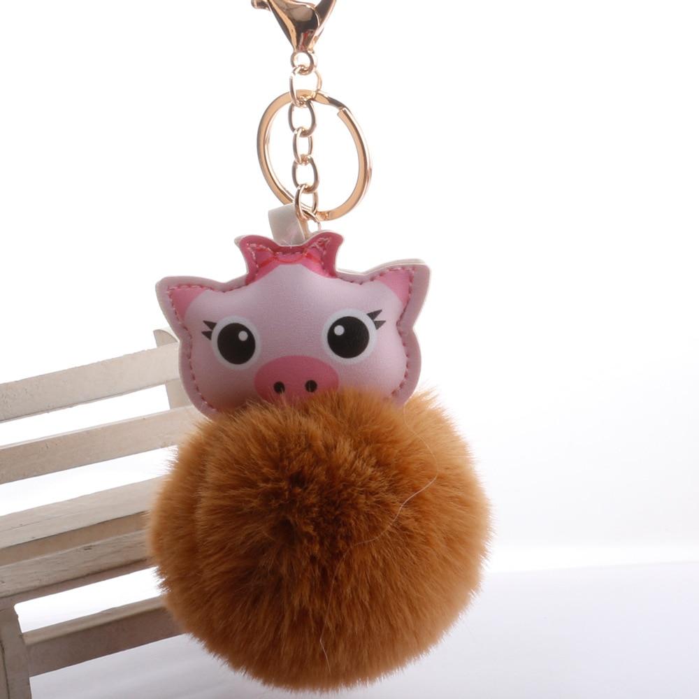 Lovely piglet pig stuffed plush doll key chain ornament keyring new