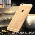 Para iphone 6 6 s plus bling 360 graus full body decal telefone etiqueta protetora da pele do brilho de bling caso de telefone envoltório