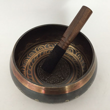 Из Непала, Тибета Поющая чаша 7 размеров Гималайская буддийская Йога Поющая чаша для медитаций фэншуй