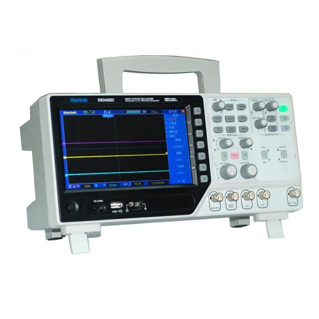 Special Offers Hantek DSO4202C 2 Channel Digital Oscilloscope 1 Channel Arbitrary/Function Waveform Generator 200MHz 40K 1GS/s 7'' Tft Lcd