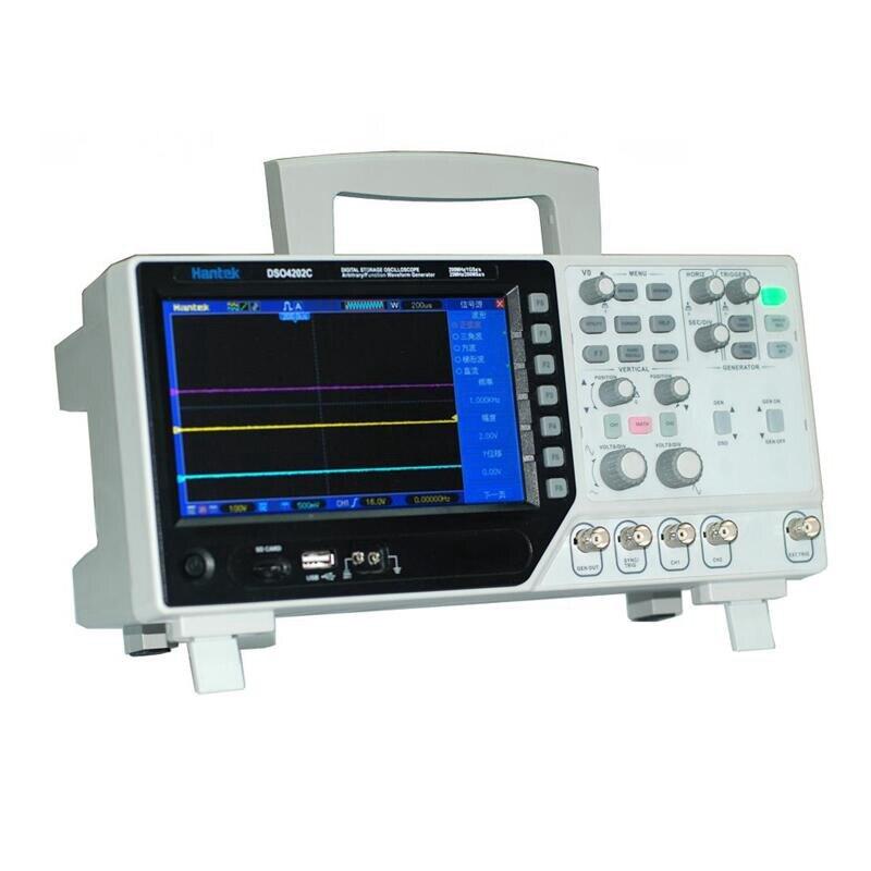 Hantek Oscilloscope DSO4202C Digital Multimeter Oscilloscope 2CH 200Mhz+ Arbitrary/Function Waveform Generator1GSa/s Sample rate