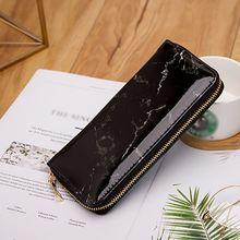 Купить с кэшбэком Fashion Marble Designed Women Long Clutch Wallet Large Capacity Wallets Women WalletsLady Coin Purses Phone Card Holder Carteira