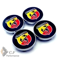 4PC 60mm Scorpions Car Wheel Hubs Caps Badge For 500 Grande Punto SS Stilo Auto Wheel Center Emblem 265
