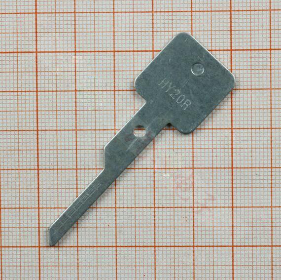 Hyundai Locksmith: HY20R Engraved Line Scale Shearing Teeth Blank Car Key