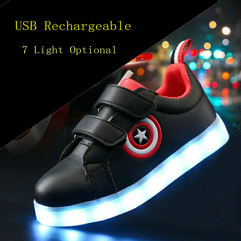 New children Glowing sneakers Led luminous Shoes For Boys girls Fashion Light Up Casual kids 7 Colors USB charge simulation sole new 7 color led glowing sneakers casual kids shoes for boys girls shoes fashion casual light up sneakers with luminous sole