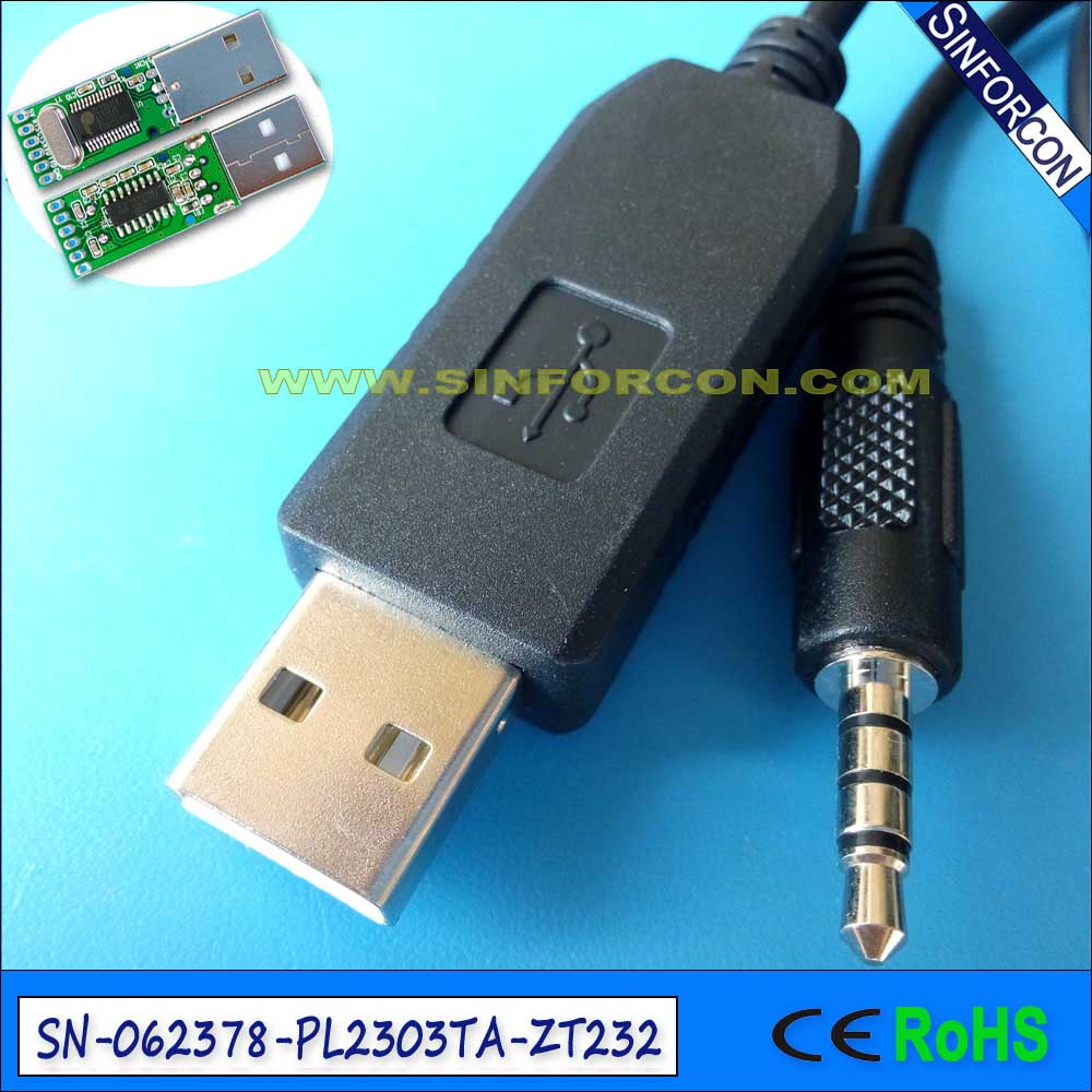 ftdi ft232r usb serial rs232 to 3.5mm stereo jack 4 pole adapter ...