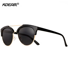 5241400430 KDEAM Tortoiseshell Round Glasses Men Glare-reducing Polarized Sunglasses  Women All Matching Vintage Goggles With