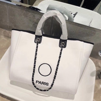Stylish Brand Women Designer Canvas Bags 2019 Luxury Women Logo Shopping Bags Large Capacity Totes
