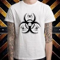 Nuevo pico fuego táctico logo hombres camiseta blanca talla S a 3XL