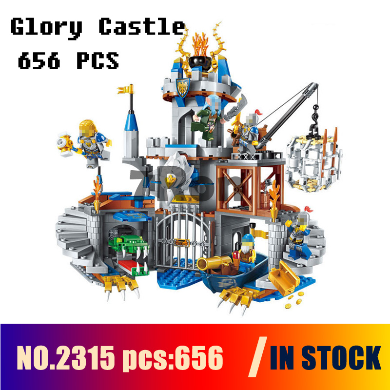 Compatible with lego Models building toy 2315 656pcs War of Glory Castle Knights The Sliver Building Blocks toys & hobbies dr tong single sale the lord of the rings medieval castle knights rome knights skeleton horses building bricks blocks toys gifts