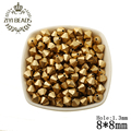 Spray Gold Cut Faceted Double Cone Beads Wholesale Handmade Accessories Large Hole Bead For Kids DIY Jewelry Making