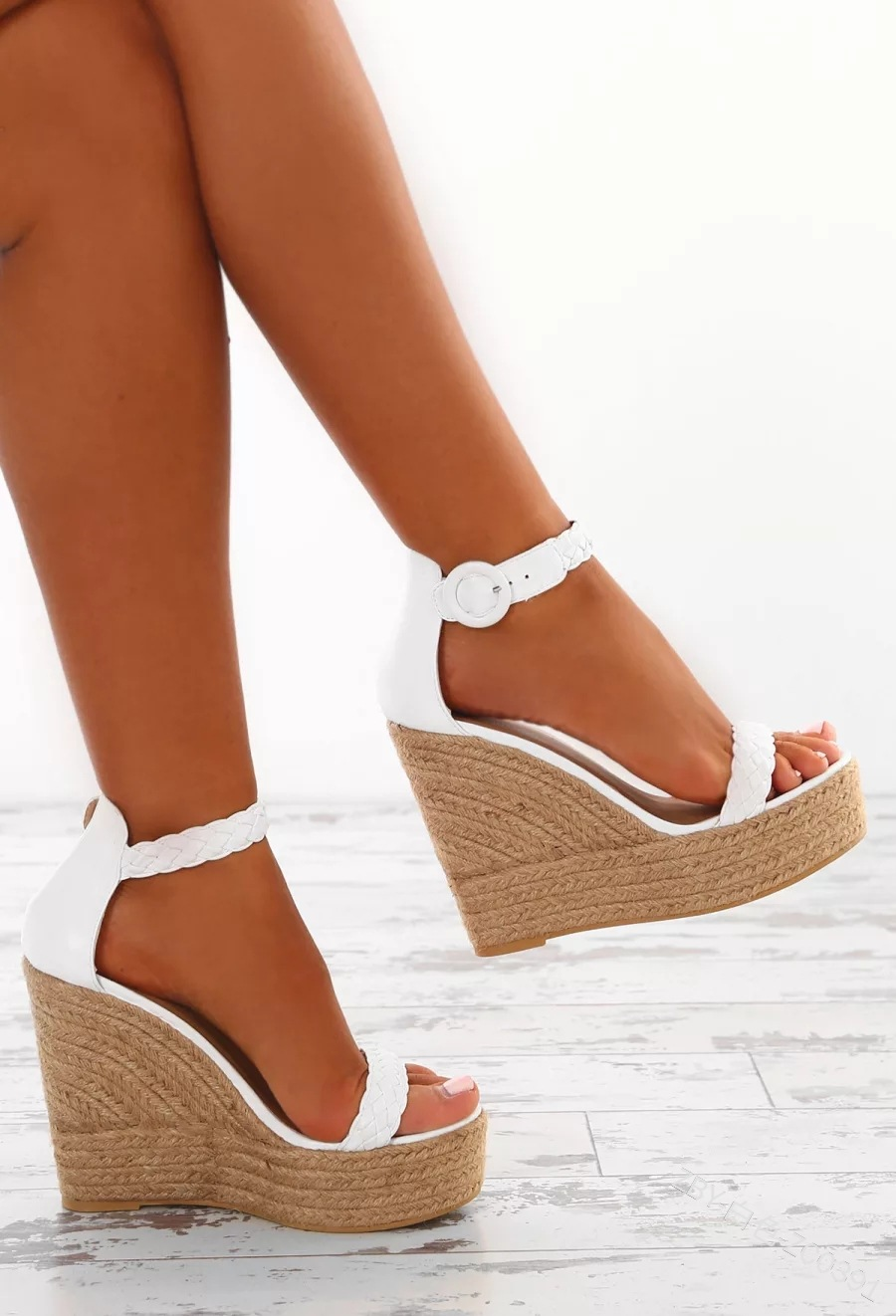 Wedges Shoes Platform Women Sandals Open-Toe Summer Heel-Buckle Solid Mature Dress