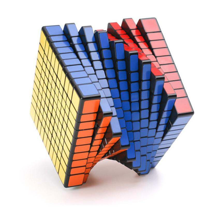 Shengshou 10x10x10 cube magique cube puzzle 10 couches cube magico cubo Puzzle vitesse cadeau jouets apprentissage éducation jouet livraison directe