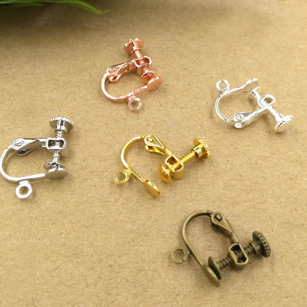 Clip Earring Converter For Non Pierced Ears With Loop Flat Circle Pad Cabochons Base