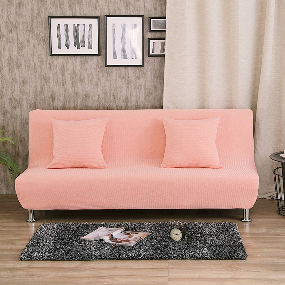 Uuiversal Stretch Sofa Bed Covers For Living Room Armless Couch Slipcovers Removable Yellow