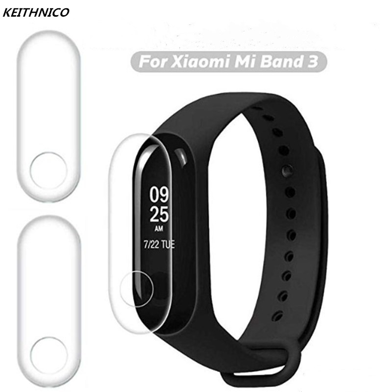 2Pcs Soft Screen Protector for Xiaomi Mi Band 3 Mi Band 4 Bracelet Anti-scratch Full Protective Film Cover miband 3 miband 4 xiaomi mi band 4